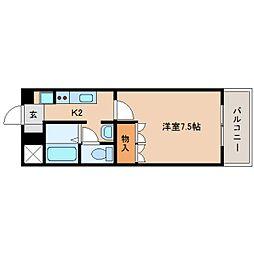 静岡県静岡市清水区船原の賃貸マンションの間取り