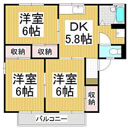 アネックスU'S B棟[1階]の間取り