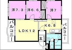 ブライムマンション-1[202 号室号室]の間取り