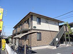 埼玉県坂戸市中富町の賃貸アパートの外観