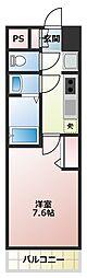 JR関西本線 JR難波駅 徒歩6分の賃貸マンション 6階1Kの間取り