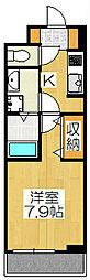 京都府京都市右京区西京極中町の賃貸アパートの間取り