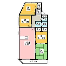 ジュネス青山[3階]の間取り