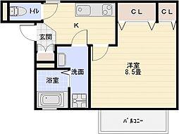 サニーハウス法善寺[1階]の間取り