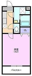 マンションカズII[1階]の間取り