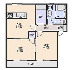 サンレジデンス植木III[2階]の間取り