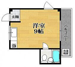 松野コーポ A棟[3階]の間取り