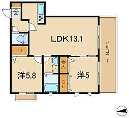 ラ・フェスタ[3階]の間取り