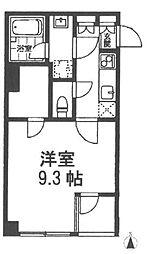 JR中央本線 吉祥寺駅 徒歩18分の賃貸マンション 2階1Kの間取り