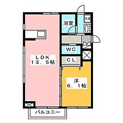 覚王山レルドール[2階]の間取り