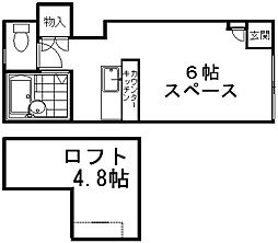 A'laise[2階]の間取り