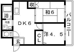 ケイクリスタル[2階]の間取り