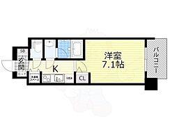 スプランディッド新大阪5 9階1Kの間取り