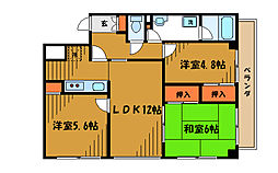 東京都小金井市中町3丁目の賃貸マンションの間取り