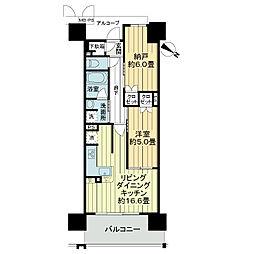 ワコーレ神戸三宮トラッドタワー[2階]の間取り