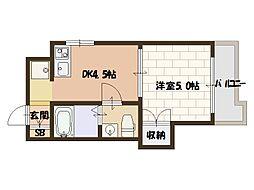 川崎ビル[7階]の間取り