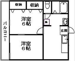 青山ハイツ[2階]の間取り