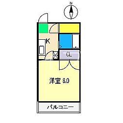 コーポ成岡I[3階]の間取り