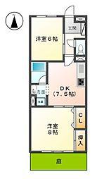 愛知県稲沢市小沢4丁目の賃貸アパートの間取り