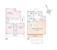 参考プラン例 3LDK(4LDK対応可) 建物面積:112.622m2