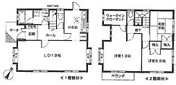 [一戸建] 兵庫県伊丹市中野北2丁目 の賃貸【/】の間取り