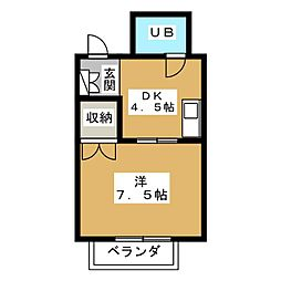 メゾン田中嘉[3階]の間取り