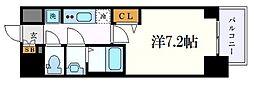 名古屋市営桜通線 丸の内駅 徒歩2分の賃貸マンション 13階1Kの間取り