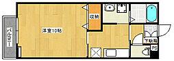 フェリス牡丹山[2階]の間取り
