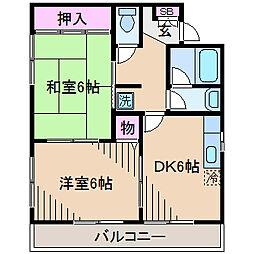神奈川県川崎市中原区苅宿の賃貸マンションの間取り