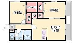 ヴィラージュ[2階]の間取り