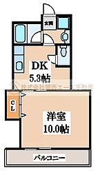 ハピネスI番館[2階]の間取り