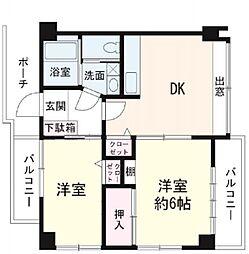 杉山マンション(フルリノベーション物件)[203号室号室]の間取り