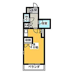 ハイネス本山[3階]の間取り