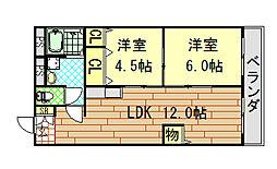 コーポラス小阪[503号室]の間取り