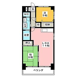ガーデンコート喜多山南[2階]の間取り