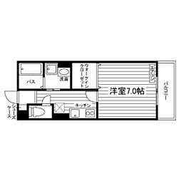 神奈川県藤沢市善行の賃貸アパートの間取り