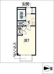 STUDIO岩田寮 H棟[3階]の間取り