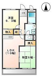 愛知県名古屋市緑区細口3丁目の賃貸アパートの間取り