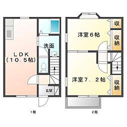 Habitation M[102号室]の間取り