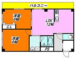アクアDUO[4階]の間取り
