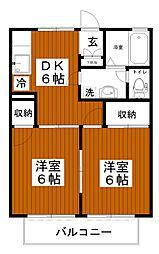 プリズムハウスI[1階]の間取り