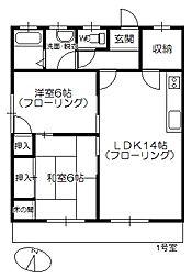 コーポHIYOSHI[201号室]の間取り