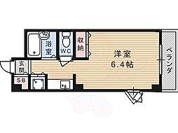 JR東海道・山陽本線 高槻駅 バス24分 南平台西口下車 徒歩5分の賃貸マンション 1階ワンルームの間取り