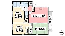 フォブール南斎院 A棟[202号室]の間取り