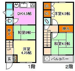 [一戸建] 兵庫県神戸市長田区蓮宮通2丁目 の賃貸【/】の間取り