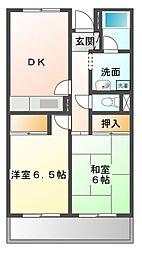 セントロ習志野[2階]の間取り