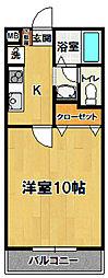 グリーン・ヨシエ2[105号室]の間取り