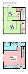グローワン天王台[103号室]の間取り