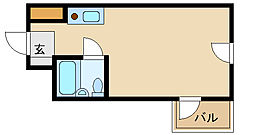 キューブ北武庫之荘1[4階]の間取り