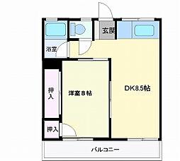 岩手県盛岡市神子田町の賃貸アパートの間取り